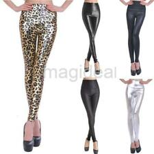 Womens Sexy Leather Leggings Jeggings Size 10 12 High Waist Wet Look Matt Ladies