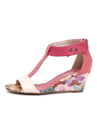 New I Love Billy Bazzy Pink/Coral/Dark Pink/Floral Women Shoes Wedges Heels