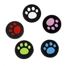 4pcs Cat Paw Print Analog Silicone Joystick Thumbstick Grips Caps for PS4 Xbox