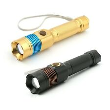 New Zoomable 2000Lm CREE XM-L T6 LED Torch 18650 AAA Flashlight Lamp Lighting UK