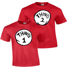 DR. SEUSS THING ONE 1 2 Thing 1 and Thing 2 Youth Adult Infant Gildan T Shirt