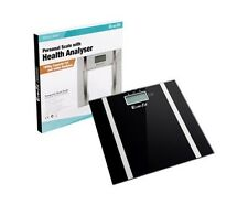 Electronic Digital Body Fat & Hydration Bathroom Glass Weight Scale