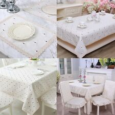 yazi Embroidered Floral Lace Tablecloth Rectangle Dining Decorative Table Cover