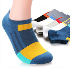 5 Pairs New Summer Mens Cotton Socks Lot Crew Ankle Low Cut Fashion Casual Socks