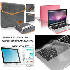 "Rubberized Hard Case+Bag w/Card Slot+Keyboard Cover+Film For Macbook 13"" Retina"