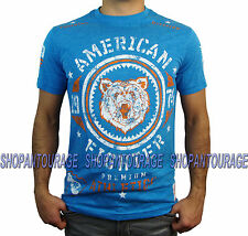 AMERICAN FIGHTER Vandercook FM2708 Men`s New Blue T-shirt By Affliction