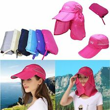 Unisex Outdoor Sport Fishing Hiking Hat UV Protection Face Neck Flap Sun Cap #IP