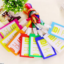 1 Pc Plastic ID Name Card Holder Case Badge Lanyard Neck Strap Necklace Strap ST