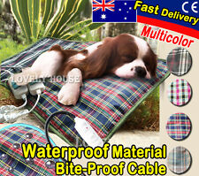 Waterproof Pet Electric Heat Heated Heating Pad Mat Blanket Bed Dog Cat Bunny