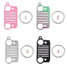 New for Jeep Grill Stainless Steel Key Chain Key Ring CJ JK TJ YJ XJ -4 Color
