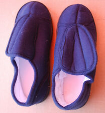 ADULT / UNISEX Navy Blue Memory Foam Slippers In Assorted Sizes (#S6339)
