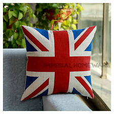 Cotton Cushion Cover British Flag,RetroVintage Union Jack Cushn Cover or Filled