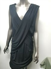 New Fredericks Of Hollywood Black Shirred Draped Dress