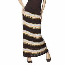 NEW! Missoni Knit Textured Sweater Maxi Skirt Fully Lined Colore Brown -Gorgeous
