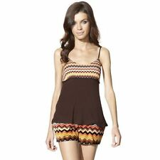 NEW! Missoni Camisole Tank Top Shirt - Soft Brown/Colore Chevron design