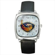 Atlanta Thrashers Round & Square Leather Strap Watch - Hockey NHL