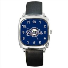 Milwaukee Brewers Round & Square Leather Strap Watch - Baseball MLB
