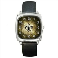 New Orleans Saints Round & Square Leather Strap Watch - Football NFL