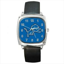 Detroit Lions Round & Square Leather Strap Watch - Football NFL