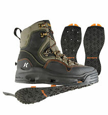 Korkers K-5 Bomber Fishing Wading Boot w/ Kling-On and Studded Kling-On Outsoles