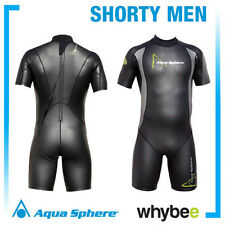 AQUA SPHERE MENS AQUA SKINS SHORTY MEN OPEN WATER WETSUIT SWIMMING