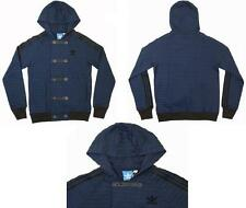 Adidas Originals SY Lightweight Blue Zip Button Down Hoodie Tracksuit Top Jacket