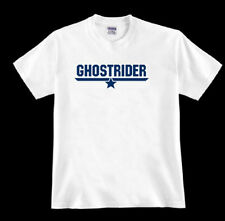 * GHOSTRIDER * tom Top cruise F-14A fighter jet Gun navy pilot 80's fan TSHIRT
