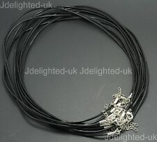 Top Quality Real Leather Cord Thread Necklace Thread Silver Plated Lobster 18""