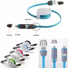 Retractable Micro USB Data Sync Charger Cable For Samsung HTC Android 5 6