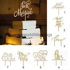 Wooden Cake Topper Picks Rustic Wedding Party Table Decoration Cake Decorating