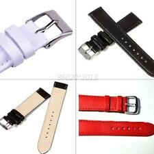 Solid Genuine Leather Watch Band 7 Sizes Width Strap for Women Men Unisex Design
