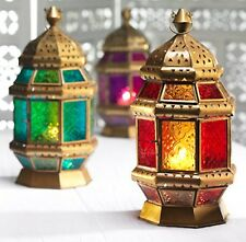Large Moroccan Octagonal Lantern Tea light Candle Holder available in 3 colours