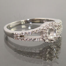 NEW 925 Sterling Silver Semi Mount Engagement CZ Ring 5mm Round Setting ANY SIZE