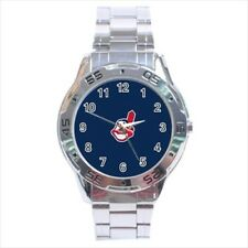 Cleveland Indians Stainless Steel Watches -MLB Baseball