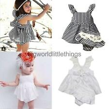 Lace Cotton Cute Strappy Toddler Girls Dress Kids Party Princess Pageant Dress