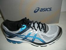 ASICS MENS GT-1000 4 RUNNING SHOES-SNEAKERS -T5A2N-9339- SILVER/ E BLUE/ BLACK