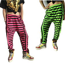 Adult kids Harem Hip Hop Dance Pants casual Sweatpants Costumes stripe trousers