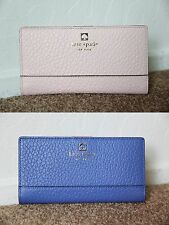 NWT Kate Spade Leather Southport Avenue Stacy Bifold Wallet Purse Pink / Blue