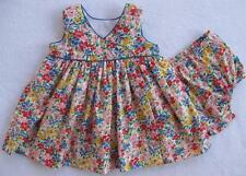 NWT Ralph Lauren Girls Sleeveless Floral Print Dress Set 6M 9M (MSRP$50.00) NEW