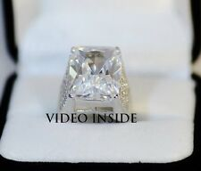 6.8CT Created Diamond Engagement Wedding Ring in 925 Sterling Silver