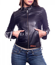 New Amazing Detailed Stitched Lambskin Leather Biker Jacket For Women EHS W- 70