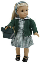 COMPLETE SUMMER UNIFORM FOR AMERICAN GIRL DOLL  DRESS/CARDY /BOOKBAG /SHOES