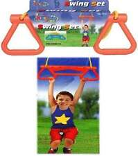 Children Kids Garden Swing Seat Trapeze Bar Climbing Adjustable Ropes