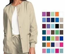 Cherokee Scrubs Workwear Snap Front Warm-Up Jacket 4350 All Colors All Sizes NWT