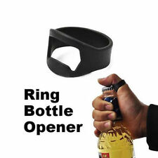 Hot Stainless Steel Finger Ring Bottle Opener Beer Bar Tool Black Silver Opening