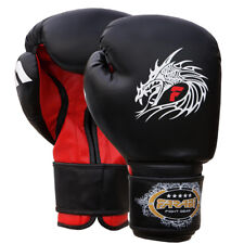 Boxing Gloves Fight Punch Bag Mitts MMA Muay Thai Rex Leather Grappling Pads