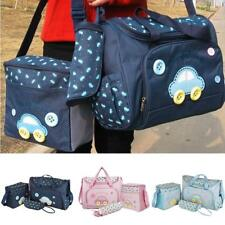 4Pc Multifunctional Baby Nappy Changing Diaper Bag sets Mummy Tote Bottle Holder