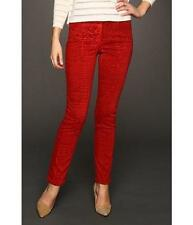NYDJ NOT YOUR DAUGHTERS JEANS STRETCH RED CRUSHED SHATTERED TUMMY TUCK SLIMMING