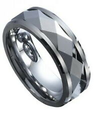 MEN'S 9mm Wide Tungsten Carbide Band Comfort Fit Ring SPINNER CENTER Polished