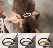Women Hollow Hair Cuff Stretch PonyTail Elastic Rope Band Hair tie Holder Ring